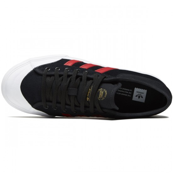 Adidas Matchcourt Shoes - Core Black/Scarlet/White - 8.0