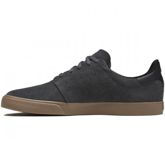 Adidas Seeley Court Shoes - Solid Grey/Core Black/Gum - 9.0