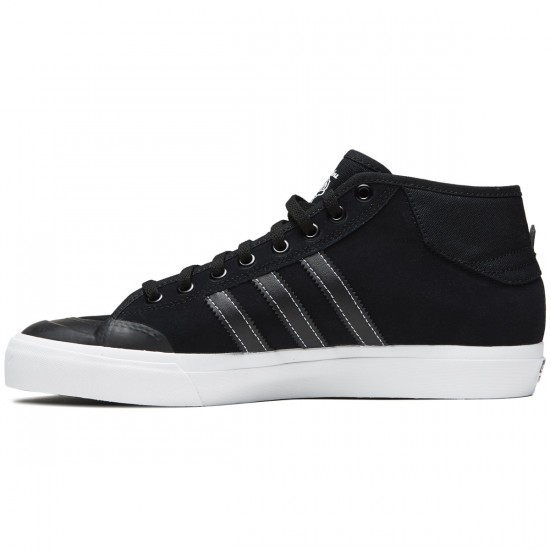 Adidas Matchcourt Mid Shoes - Core Black/Core Black/White - 7.0