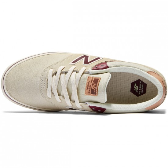 New Balance Quincy 254 Shoes - Stone/Burgundy - 8.0