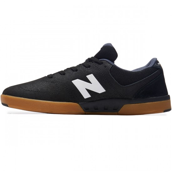 New Balance PJ Stratford 533 Shoes - Black/White/Gum - 8.0