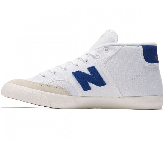 New Balance Numeric Pro Court 213 Shoes - White/Royal/Orange - 8.0