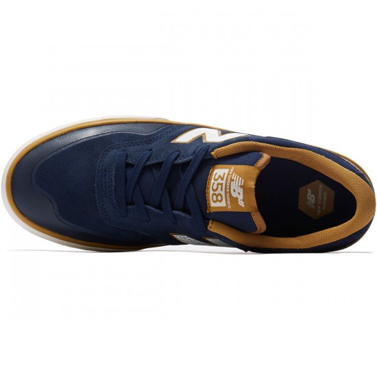 New Balance Arto 358 Shoes - Navy/Mustard - 8.0