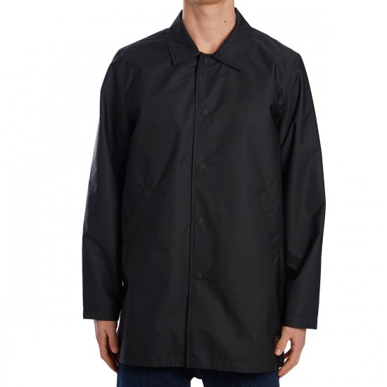 Levis Long Coaches Jacket - Jet Black