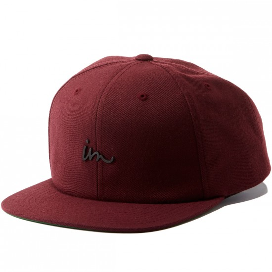 Imperial Motion Deception Snapback Hat - Maroon