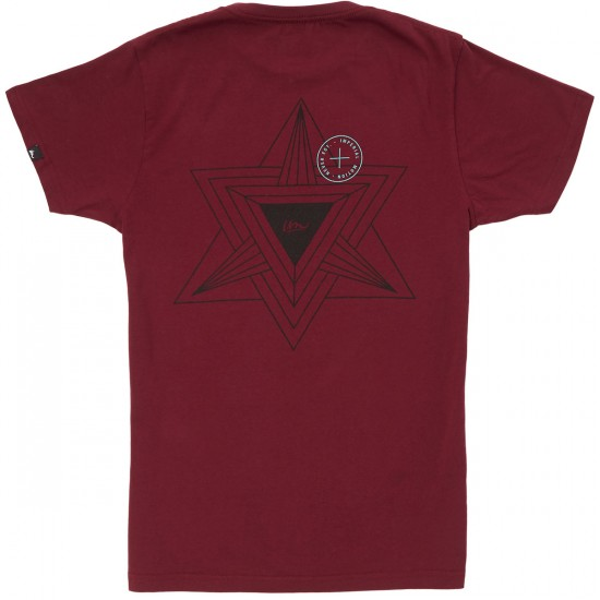 Imperial Motion Geo T-Shirt - Maroon