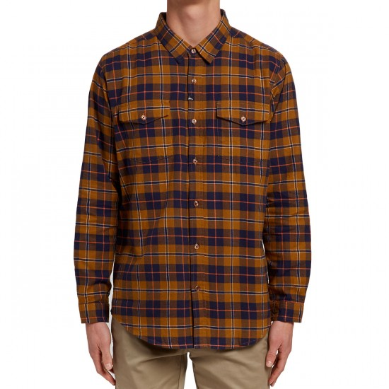 Imperial Motion Monterey Flannel Shirt - Tobacco/Navy