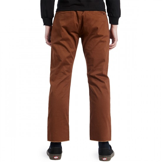 Imperial Motion Chapter Cropped Chino Pants - Chestnut - 30 - 32
