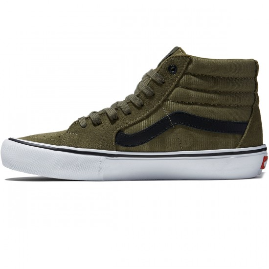 Vans Sk8-Hi Pro Shoes - Dakota Roche Burnt Olive/Black - 8.0