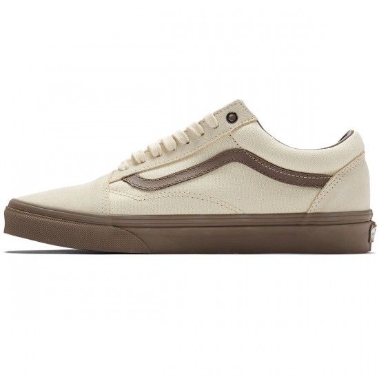 Vans Old Skool Shoes - Cream/Walnut - 8.0