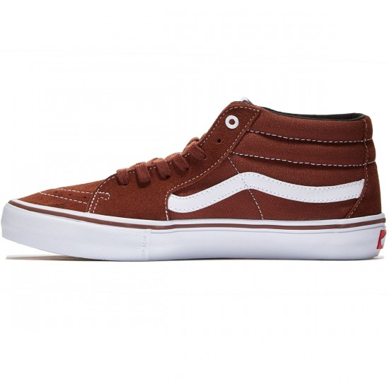 Vans Sk8-Mid Pro Shoes - Cappuccino/White - 8.0