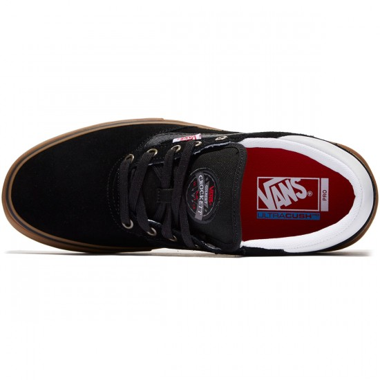 Vans Gilbert Crockett Pro Shoes - Black/White/Gum - 8.0