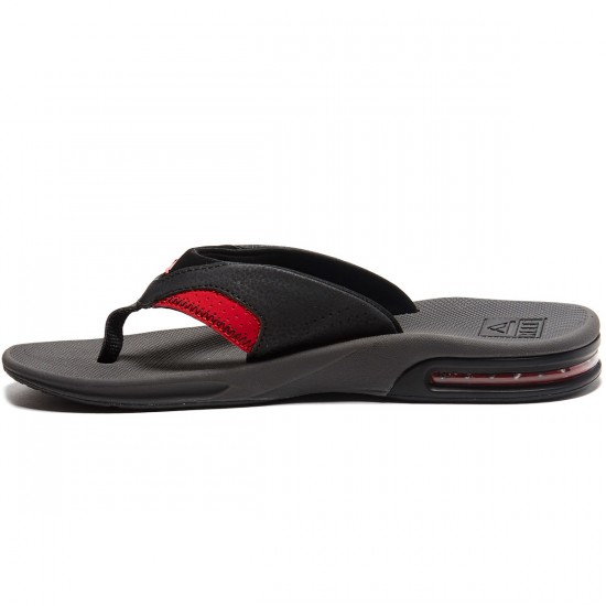 Reef Fanning Sandals - Grey/Black/Red - 8.0