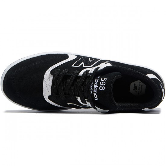 New Balance 598 Shoes - Black/White - 8.0