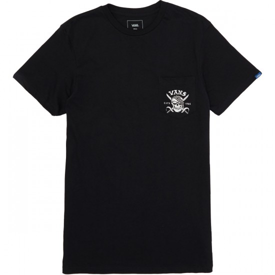 Vans Pirate Days Pocket T-Shirt - Black