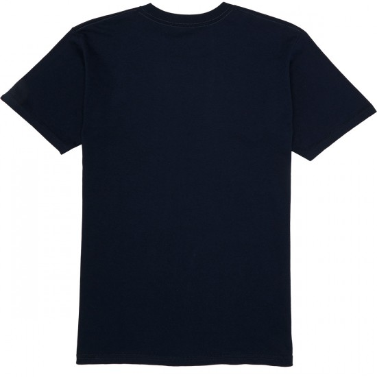 Vans Full Patch T-Shirt - Navy/Golden Glow
