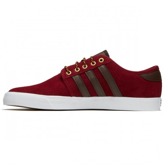 Adidas Seeley Shoes - Collegiate Burgundy/Brown/White - 6.5