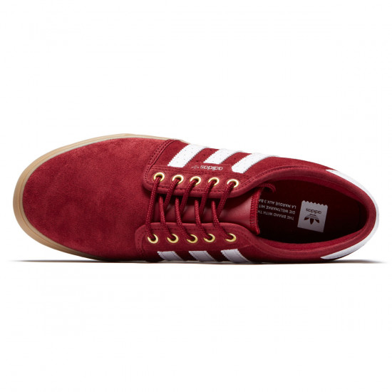 Adidas Seeley Shoes - Collegiate Burgundy/White/Gold Metallic - 7.0