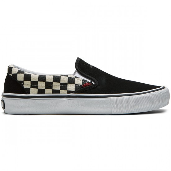 Vans X Thrasher Slip On Pro Shoes - Thrasher Black/Checkerboard - 6.5