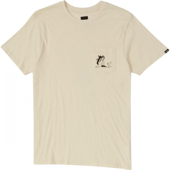 Vans Yusuke Outdoors Pocket T-Shirt - Antique White