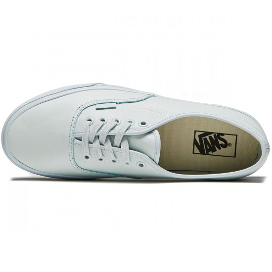Vans Original Authentic Shoes - Leather Mono/Ice Flow - 8.0