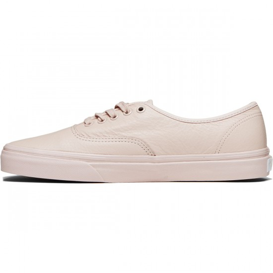 Vans Original Authentic Shoes - Leather Mono/Sepia Rose - 8.0