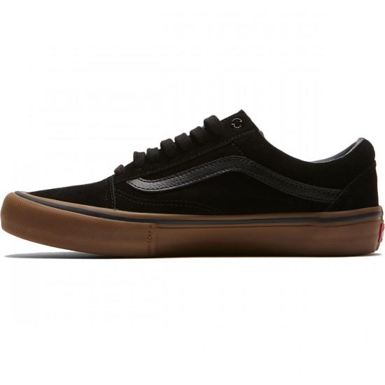 Vans Old Skool Pro Shoes - Black/Gum/Gum - 6.5