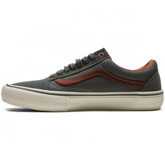 Vans Old Skool Pro Shoes - Gunmetal/Burnt Henna - 6.5