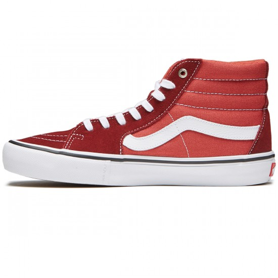 Vans Sk8-Hi Pro Shoes - Madder Brown/Cinnabar - 8.0