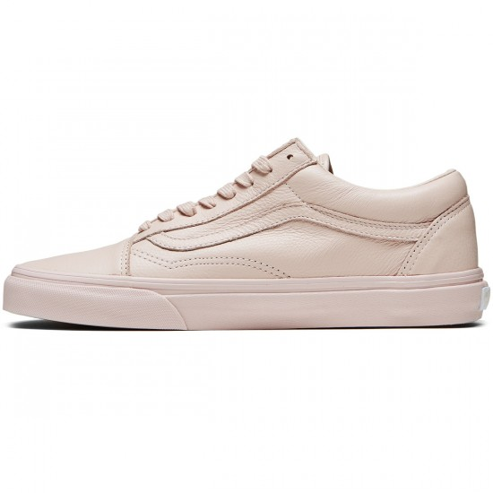 Vans Old Skool Shoes - Leather Mono/Sepia Rose - 8.0