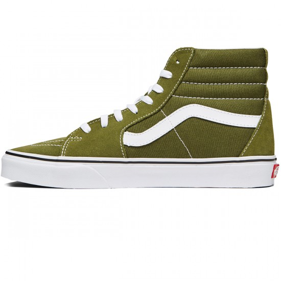Vans Sk8-Hi Shoes - Winter Moss/True White - 8.0