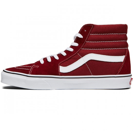 Vans Sk8-Hi Shoes - Madder Brown/True White - 8.0