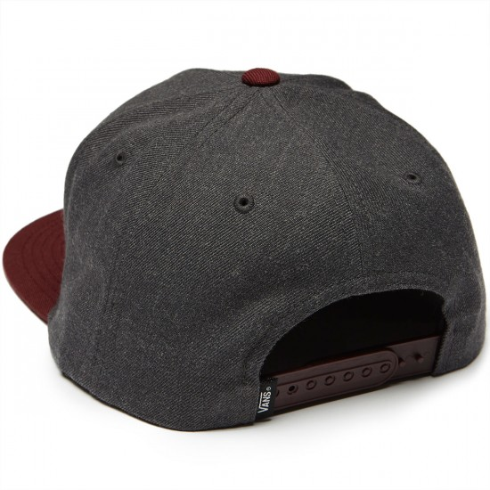 Vans Classic Patch Snapback Hat - Heather Black/Port Royale