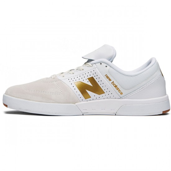 New Balance Numeric 533 V2 Shoes - White/Gold - 8.0