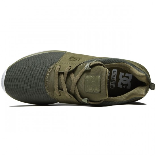 DC Heathrow Shoes - Olive Night/White - 8.0