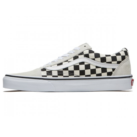 Vans Old Skool Shoes - White/Black Checkerboard - 8.0