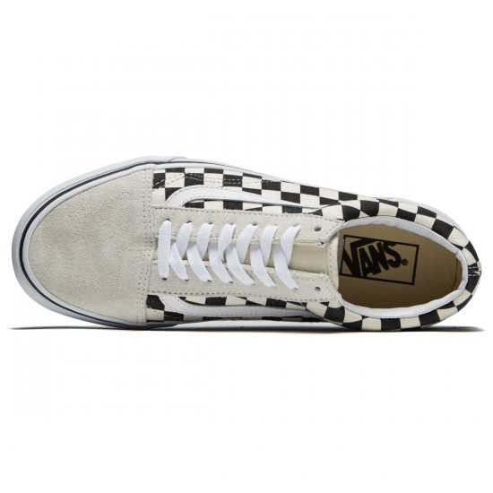 Vans Old Skool Shoes - White/Black Checkerboard