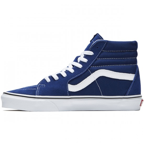 Vans Sk8-Hi Shoes - Estate Blue/True White - 8.0
