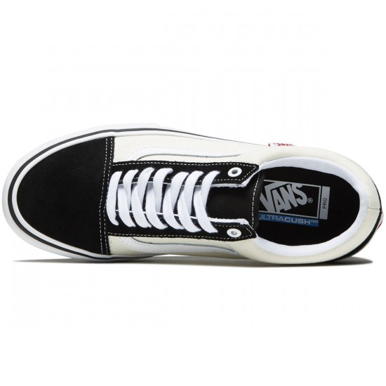 Vans Old Skool Pro Shoes - Black/White/White - 8.0