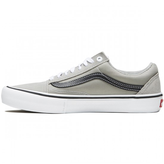 Vans Old Skool Pro Shoes - Drizzle/Black/White - 8.0