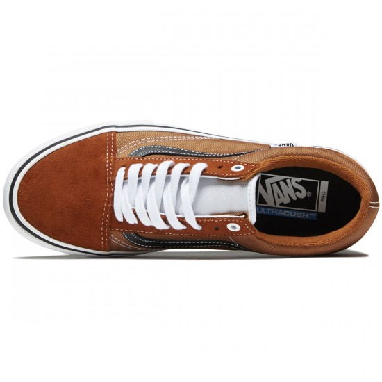 Vans Old Skool Pro Shoes - Glazed Ginger/Black/White