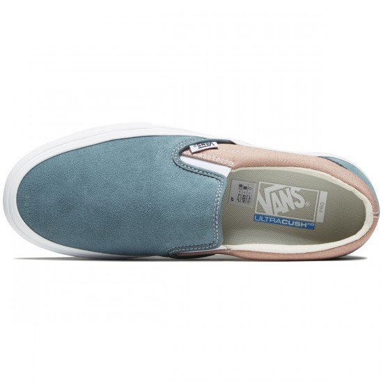 Vans Slip-On Pro Shoes - Goblin Blue/White Mohogany Rose