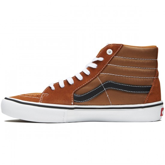 Vans Sk8-Hi Pro Shoes - Glazed Ginger/Black/White - 9.0