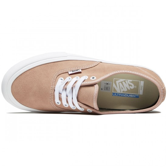 Vans Authentic Pro Shoes - Mahogany Rose/White - 8.0