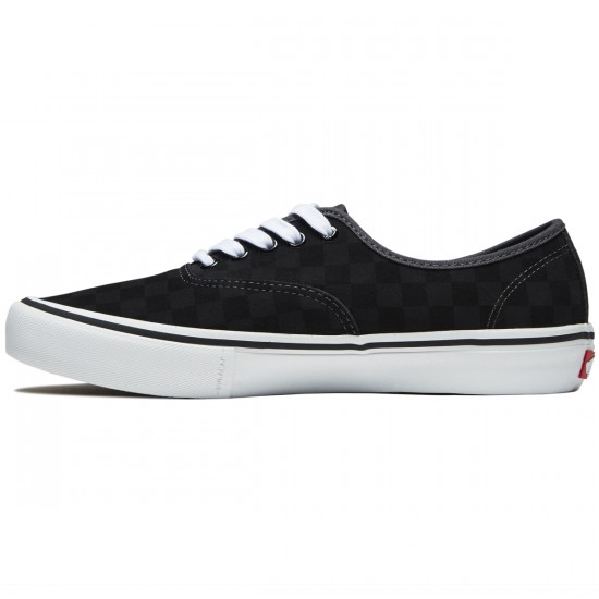 Vans Authentic Pro Shoes - Black/Asphalt Checkerboard