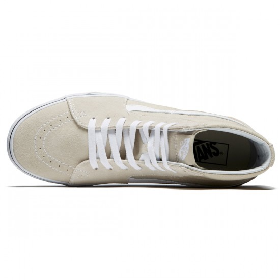Vans Sk8-Hi Shoes - Silver Linning/True White - 8.0