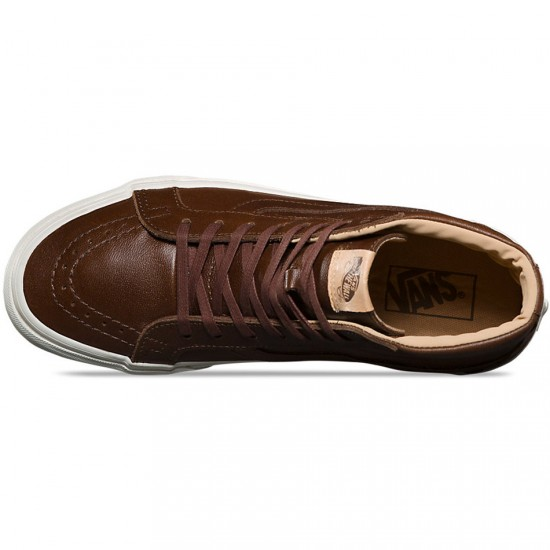 Vans SK8-Hi Reissue Shoes - Shaved Chocolate/Porcini - 8.0