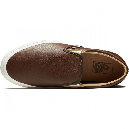 Vans Classic Slip-On Shoes - Shaved Chocolate/Porcini - 8.0