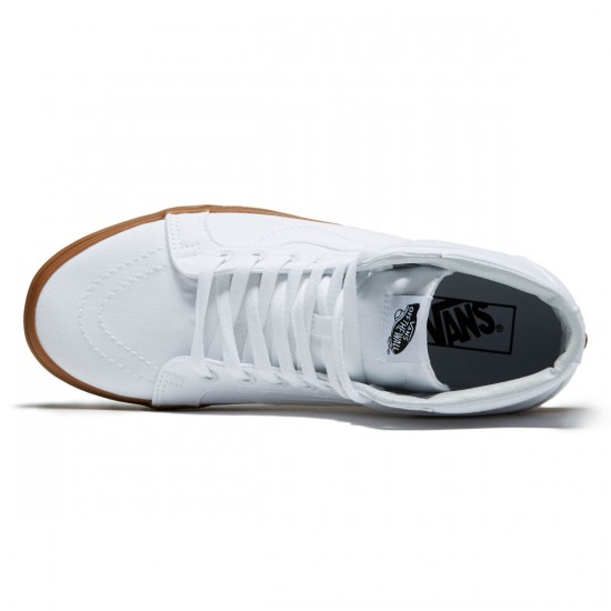 Vans SK8-Hi Reissue Shoes - True White/Light Gum - 8.0
