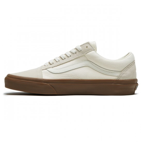 Vans Old Skool Shoes - White/Gum - 8.0
